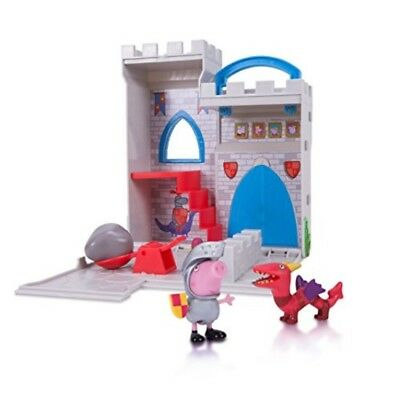 Peppa Pig Little Places Playset Castle George Figures Kids Play Toy Gift Set New