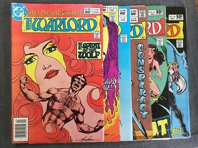 DC Comics The Warlord - Lot of 6 - #40,41,56,65,66,68