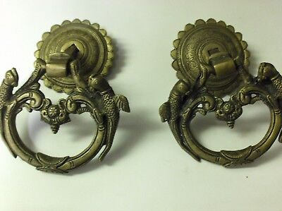 Brass door pulls,peacock. antique design.