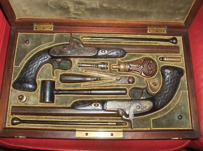 Dueling/Target percussion pistols. Circa 1850
