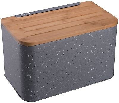 Reasonable Brown Bread Bin Box Storage Container Roll Loaf Wood Wooden 18x30x40cm Large Home, Furniture & Diy