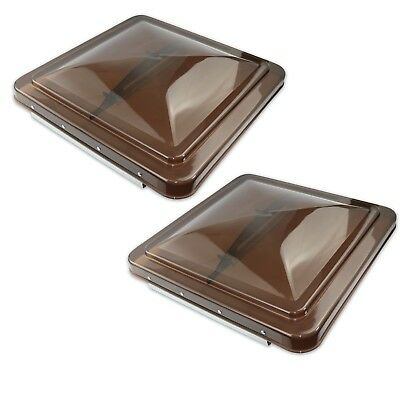 """2 Pack Smoked 14"""" x 14"""" Replacement Roof Vent Cover Camper RV Trailer Ventline"""