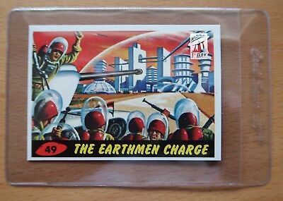 1994 MARS ATTACKS! ARCHIVES - 1st Day - #49 The Earthmen Charge - w/ Card Saver