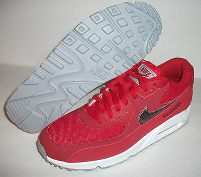 d597310568 MEN NIKE AIR Max 90 Essential Running Shoe Size 9 Red White Silver ...