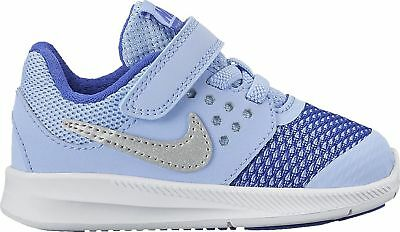New Nike Baby Girl's Downshifter 7 Athletic Shoe Aluminum/Blue 9