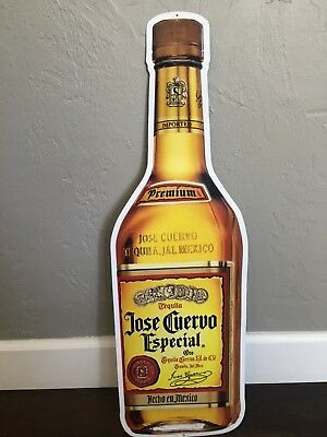 """Jose Cuervo Especial 🇲🇽 Mexico 2004 Bottle Sign 30 3/4"""" by 9 3/4"""""""