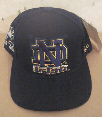 Vintage University Of Notre Dame Fitted Hat Size 7 1/8 Zephyr Graf New With Tags