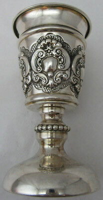 Sterling Silver 925 Kiddish Cup With Elegant Details On Stem 90 GRAMS