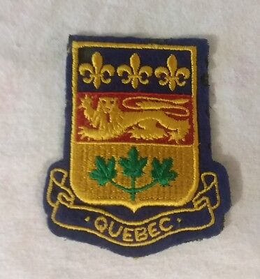 Vintage QUEBEC Canada pride Patch - Coat Of Arms iron on for jacket coat bag etc