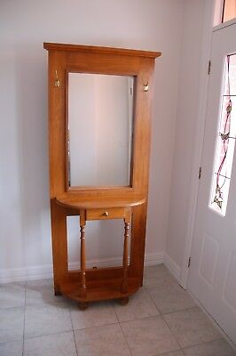 hall stand with mirror. Reproduction. Excellent condition 1 drawer