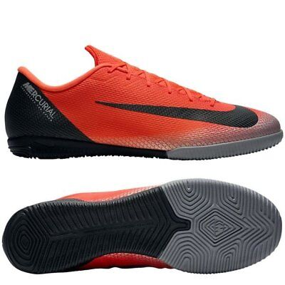 finest selection c669e 43d3f NIKE MERCURIAL VAPORX Academy XII IC CR7 Ronaldo Indoor 2018 Soccer Shoes  Red