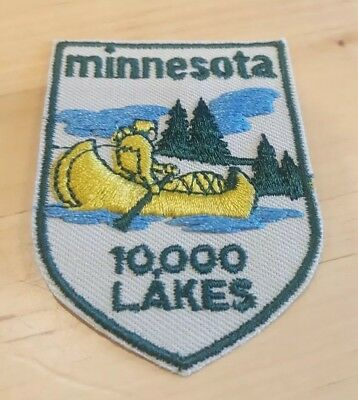 Vintage Patch Minnesota 10,000 Lakes