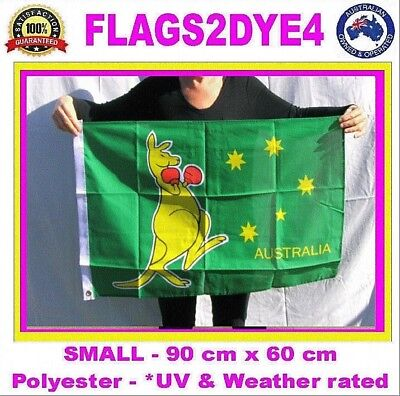 Boxing Kangaroo flag Australian sports flag includes AUSTRALIA POST TRACKING