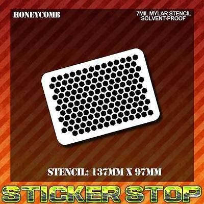 HONEYCOMB MYLAR STENCIL (Airbrush, Mini, Craft, Texture, Re-usable)