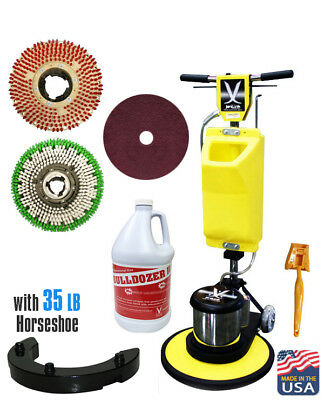 "JL 20""Premium Floor Polisher Machine with Tank,Brushes,Pad Holder//630258-ASM20"