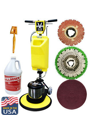 "JL 17""Premium Floor Polisher Machine with Tank,Brushes,Pad Holder//630258-ASM17"