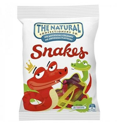 The Natural Confectionary Snakes 260g x 18
