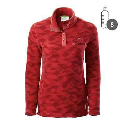 Kathmandu Pelorus Women's High Neck Snap Button Warm Outdoor Fleece Pullover