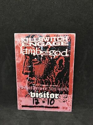 Killswitch Engage Lamb Of God Devildriver Soilwork 2007 Tour Visitor Cloth Pass
