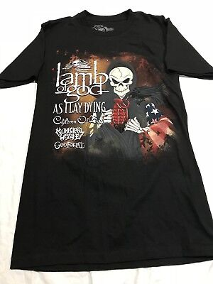 Lamb of God As I Lay Dying Municipal Waste Children Of Bodom 2XL Cotton T-shirt