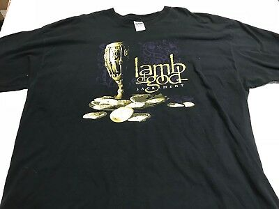 Lamb Of God Devil Driver Cotton T-shirts Size 3XL And Lamb Of God 2XL