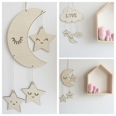 Decor Wooden Wall Hanging Photography Props Baby Room Decoration Home Ornaments