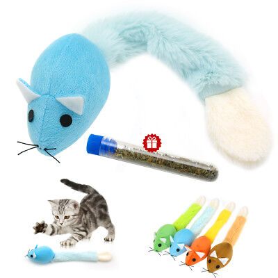 Funny Cat Toy Mouse Interactive Cats Teaser Toys Long tail Scratch Playing Train