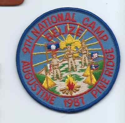 Boy Scout Scouts of Belize 9th National 1987 Camp Pine Ridge Patch
