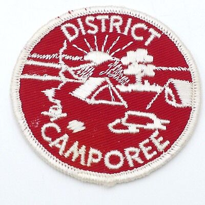 Vintage District Camporee Boy Scout Patch Red BSA Patch