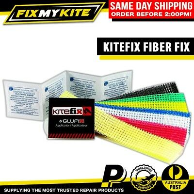 Kitefix Self-Adhesive Fiber Fix Repair Kit Kitesurf Kiteboard Kite Sail Tear