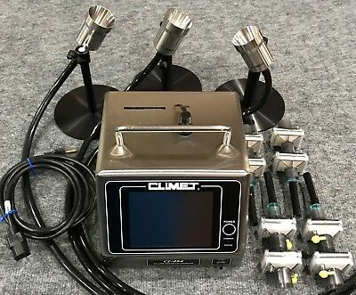 Climet CI-454 portable laser particle counter 50 LPM calibrated + Extras