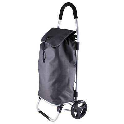 Karlstert Lightweight Shopping Foldable Trolley/Bag/Cart/Luggage w/ Wheels Grey