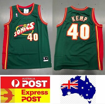 "Seattle Supersonics Shawn Kemp 1990s vintage jersey, ""the Reign Man"""