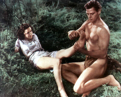Johnny Weissmuller & Maureen O'Sullivan [1028733] 8x10 photo (other sizes avail)