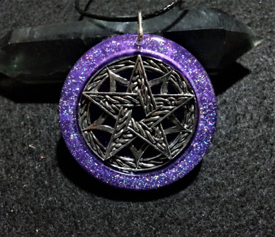 Pentacle Pendant,spiritual,pagan, wiccan jewellery, witchcraft, symbolic,sparkle