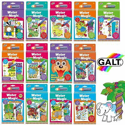 Galt Toys Water Magic Pads - Mess Free Colouring Books for Children - REUSABLE !