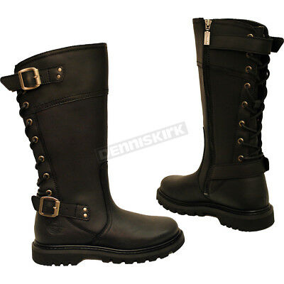 78b594c87ed73 TourMaster Womens Trinity Touring Motorcycle Boots Black
