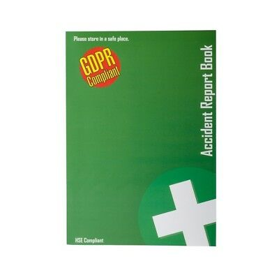 GDPR Compliant A5 First Aid Accident Report Book