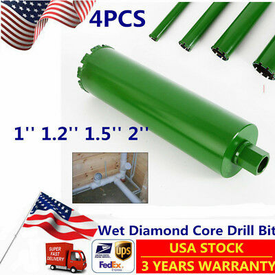 "Wet Diamond Core Drill Bit for Concrete-Premium Green 1"",1.2"",1.5"", 2"" US STOCK"