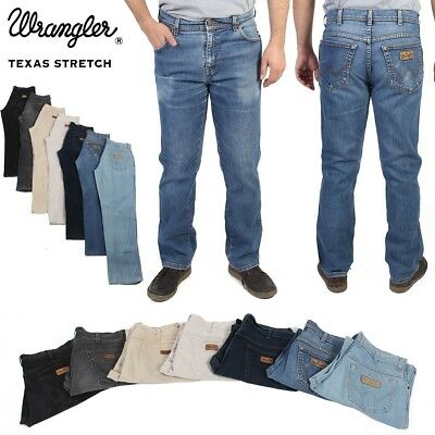 Wrangler Texas Stretch Original Fit Vintage Mens Jeans