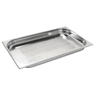 1/1 Full Size Perforated Stainless Steel Bain Marie Gastronorm Pan 325x530mm