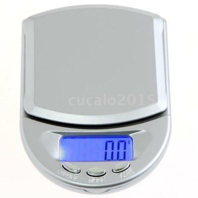 New Digital Scale 500g x 0.1g Jewelry Gold Silver Coin Gram Weighing Scales U0H8