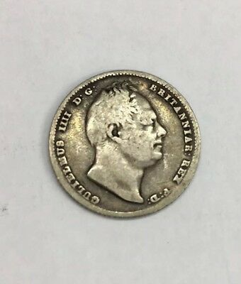 1834 William IV/III Six Oence 6p Coin Silver