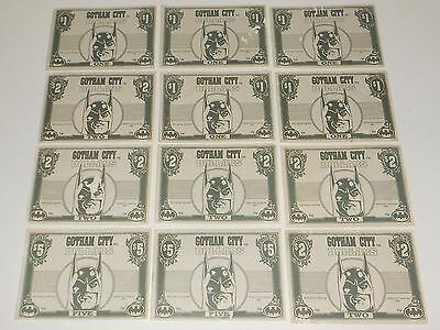 1992 Batman Gotham City Money Dollars From Trading Card Movie Series