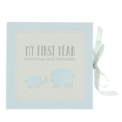 My First Year Blue Record Memory Book Keepsake Baby Shower Gift