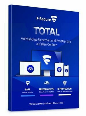 F-Secure TOTAL Security inkl. VPN 2019 5 PC Geräte 1 JAHR WIN MAC Android