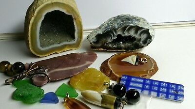 Rock collection lot and gem stones