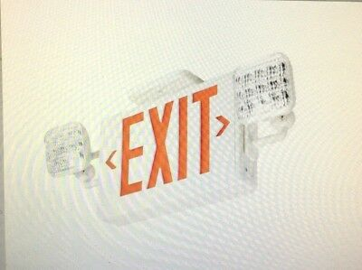 Lithonia ECR LED M6 Red Emergency Combo Exit / Unit with LED Heads(CASE OF 6)