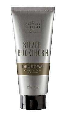 Scottish Fine Soaps Men's Grooming Silver Buckthorn Hair & Body Wash 200ml