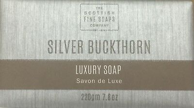 Scottish Fine Soaps Men's Grooming Silver Buckthorn Luxury Soap 220gm